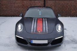 Porsche 911 4S matt sort martini dekor, foto