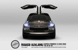 Tesla X med Privatmegleren design, foto