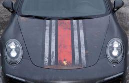 Porsche 991.2 S, helfoliert i Scott Skepple Design matt slitt look, foto