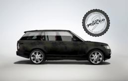 Range Rover helfoliert camo design for Peter Peters, foto