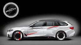 Spesialdesignet print til BMW 5 serie Touring, foto