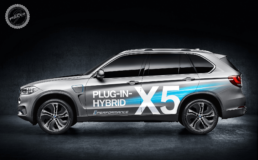 Lanserings dekor for BMW X5 plug in hybrid.